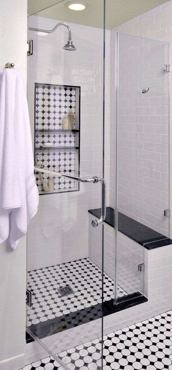 Bagno in stile liberty - Bagno con doccia