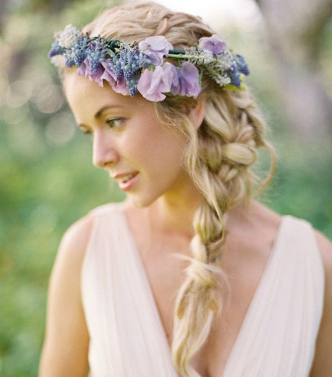 braided wedding hair styles with flowers