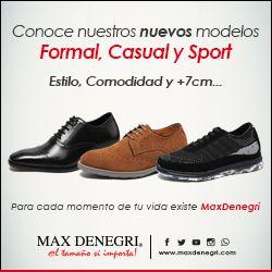 Nueva Colección de zapatos para hombre con altura +7cm recién llegados. Para cada momento de tu vida existe Max Denegri.