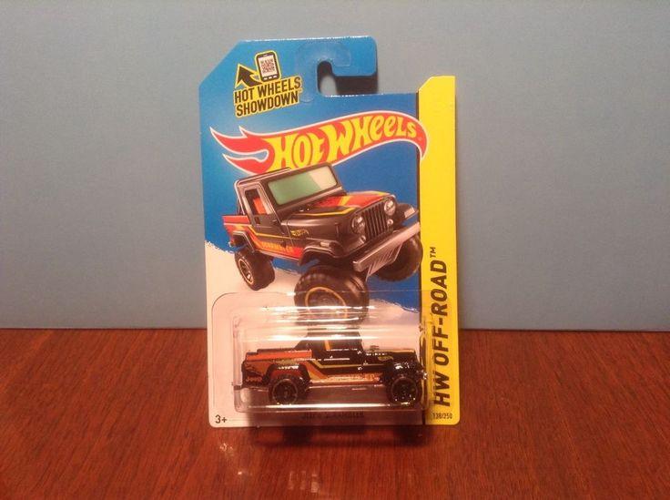 Hot Wheels Jeep Scrambler #138 HW Hot Trucks 2014 Black 50 Cent Combined Ship #HotWheels #Jeep