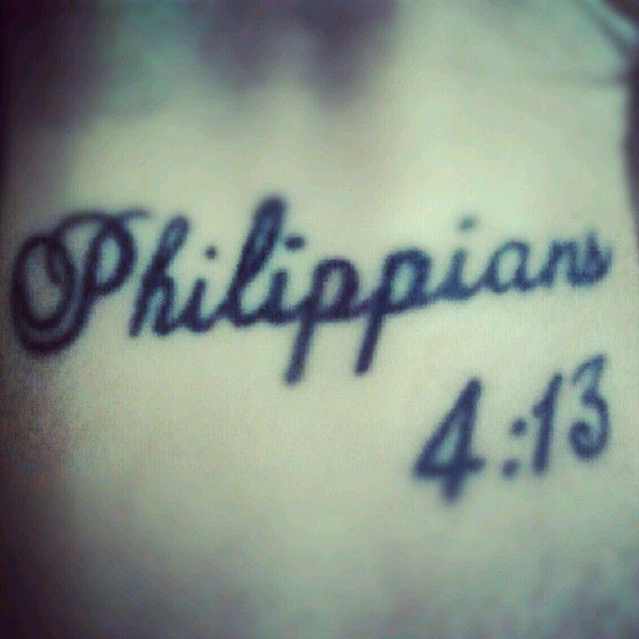 40 Philippians 4 13 Tattoo Designs For Men: Philippians 4:13 Tattoo