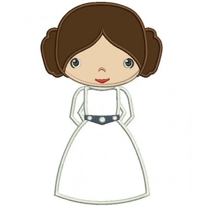Princess Leia Embroidery Design