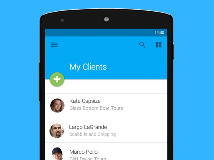 Animated transition for Android Lollipop Material Design from contact list to contact detail view