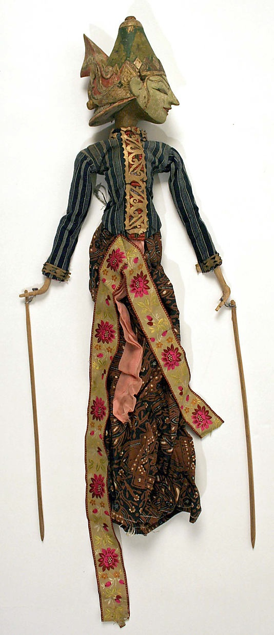 Doll    Date:      19th–20th century  Culture:      Indonesian (Javanese peoples)  Medium:      cotton  Dimensions:      Height: 24 in. (61 cm)  Credit Line:      Gift of Mr. Ely Jacques Kahn, 1950