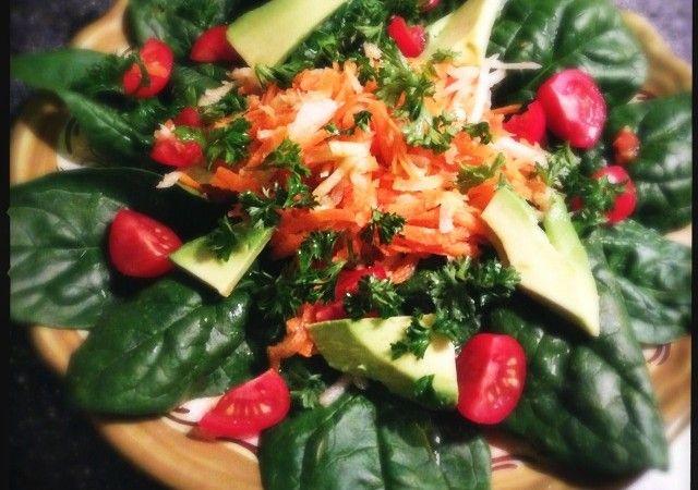 Salade met spinazie en meer goede dingen   Francesca Kookt!
