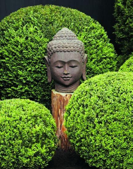 Sweet Serenity by Landscape designer Joseph Cornetta.: Buddha Garden, Gardens Ideas, Buddha Head, Landscape Design, Green Gardens, Joseph Cornetta, Gardens Buddha, Sweet Serenity, Zen Gardens