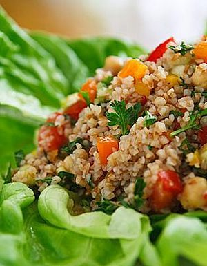 Toasted Quinoa Salad - Organic Recipes From Flannerys More Great recipes...grab these 2 FREE books here! www.RealOrganicLife.com