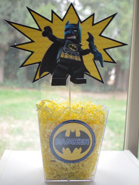Love these lego batman centerpieces!!