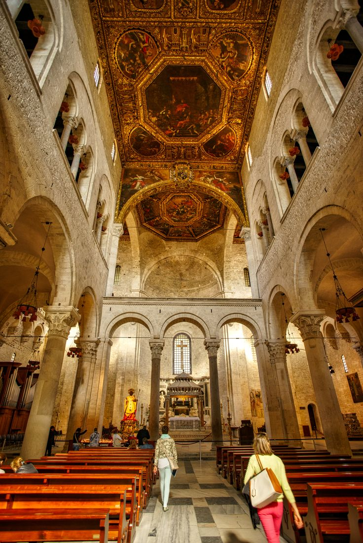 Interior of the famous Basilica di San Nicola in Bari - Italy