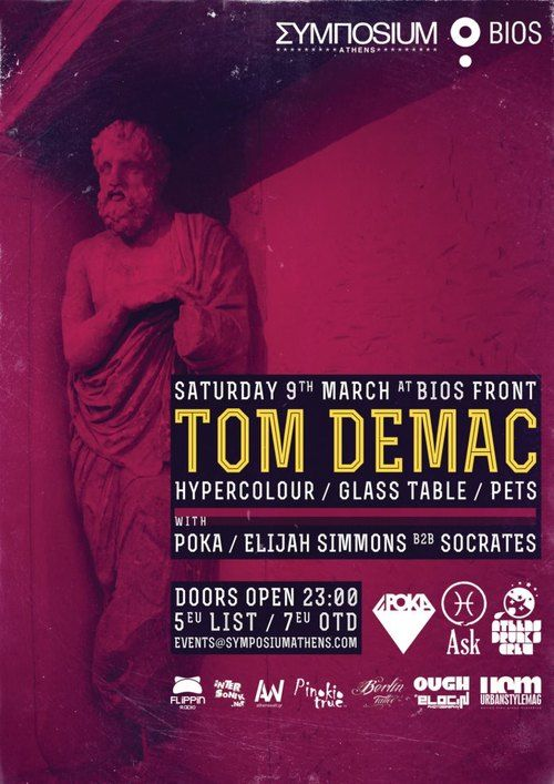 Symposium event with Tom Demac @ Bios, Athens