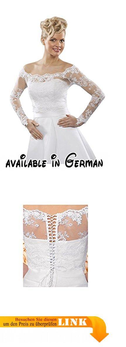 Feines enganliegendes Oberteil mit Schnürung aus Spitze - B109 (L/XL, weiß). Feines enganliegendes Spitzen Oberteil. Am Rücken mit Schnürung.. Tolles Braut Accessoires für Ihr Hochzeitskleid #Apparel #OUTERWEAR