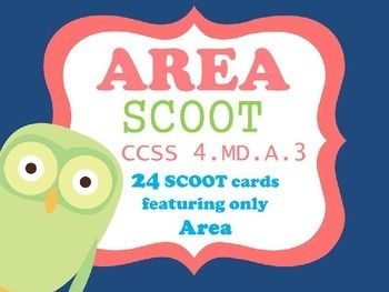 Needing a resource to reinforce just AREA? Try this Scoot game! This area Scoot game provides your students with practice reinforcing only AREA. Great for a whole class game, student math center, or teacher led work center. CC aligned with CCSS 4.MD.3.A Apply the area and perimeter formulas for rectangles in real world and mathematical problems.24 Scoot Cards Answer KeyStudent Recording SheetBlack and White Scoot cards for easy printing.I CAN STATEMENTS:I can find the area of squares and ...