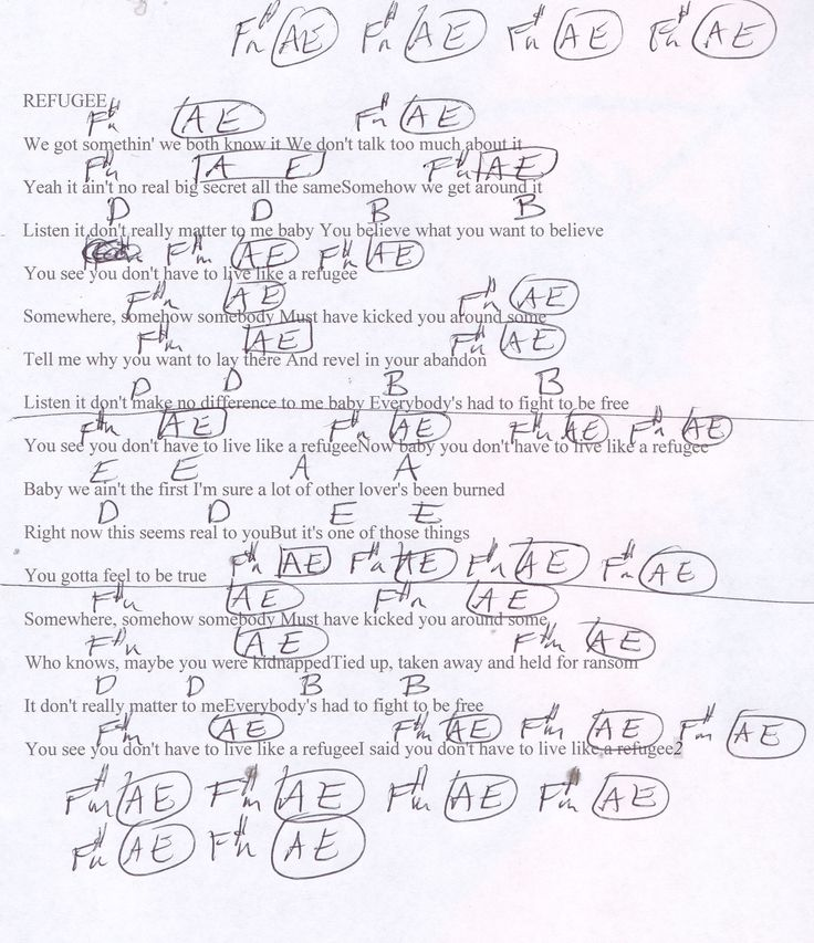 31 Best Tom Petty Guitar Chord Charts Images On Pinterest Guitar
