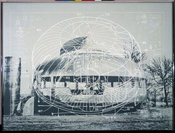 "Richard Buckminster Fuller, DYMAXION DWELLING MACHINE-WICHITA HOUSE, from the series ""Inventions: Twelve around one"", 1981, Deutsche Bank Collection"