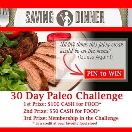 #30dayPaleoChallenge and #SavingDinner Money for food-- how cool is that?