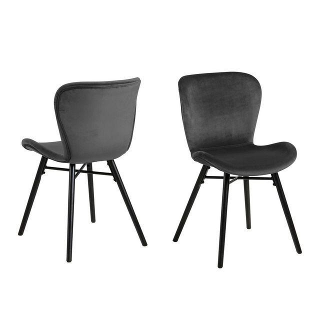Stuhl Aus Holz Und Metall In Grau Hier Kaufen Esszimmerstuhl Polsterstuhl Stuhle