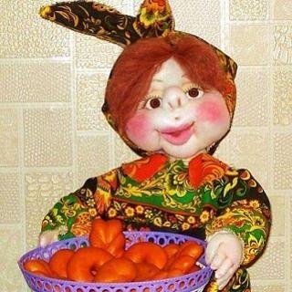 Кукла-корзинщица, помощница для кухни. #продамкуклу #купитькуклу  #текстильнаякукла #кукла.#кукланазаказ  #подарок  #девушка #дом