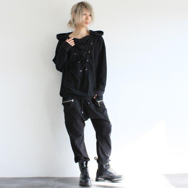【albino】レースアップポンチョパーカー - メンズスカートなどモード系ファッションの通販 albino