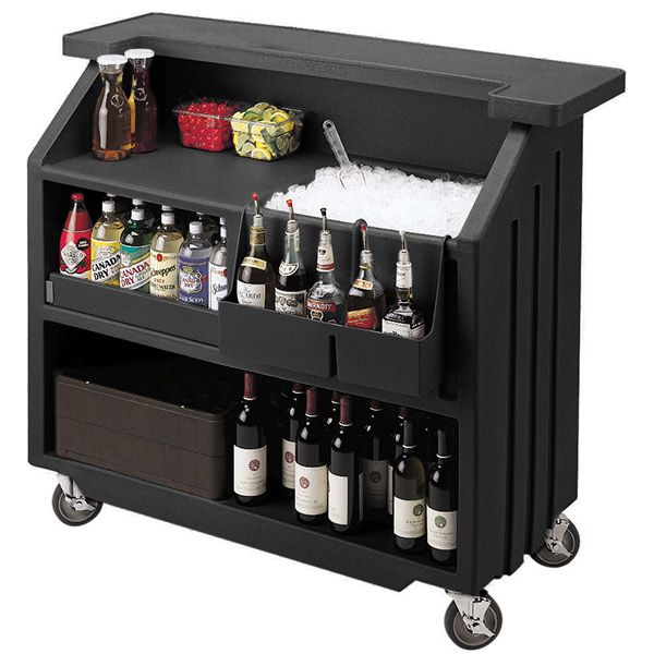 Cambro Portable Bar 540 Black | Mobile Bars Portable Event Bar Outdoor Bars…