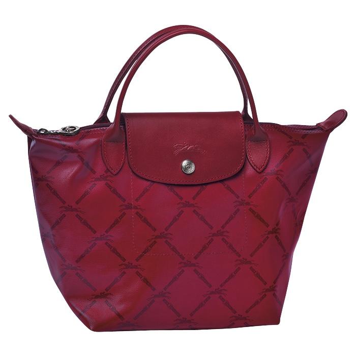 Longchamp LM handbag in burgundy