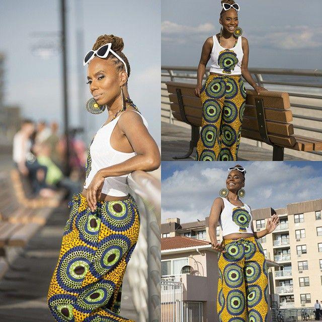 Happy Saturday #liligirls  OOTD : D A N I African Print Pants D A N I  Crop AfroT  www.Lilicreations.etsy.com  MUA : Zena @yellowpound_cake Photography : Rickey Allen @rickeyallen Jewlery : @naiimalove  Lotus Roots Creations www.Lotusrootscreations.etsy.com Hair: Nessa @live_n_loc Sunglasses: @flyjane  www.shopflyjane.com