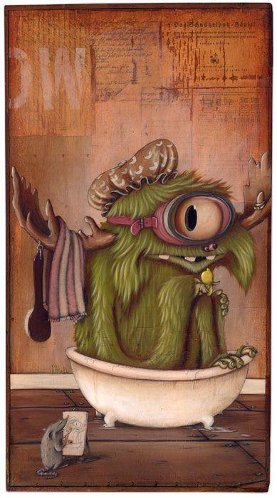 Johan Potma - Illustration - Monster - So fresh'n so clean.