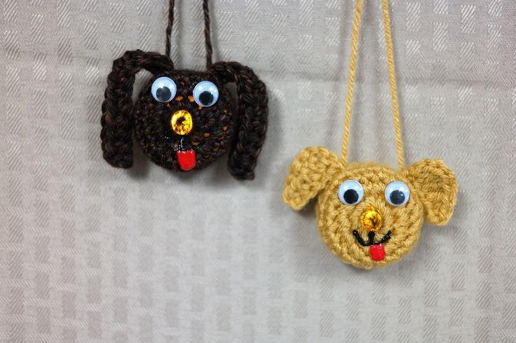 Lighted Puppy Ornament, Free Crochet Pattern by Crocheted World, #haken, gratis patroon (Engels), theelicht hond, decoratie, #haakpatroon