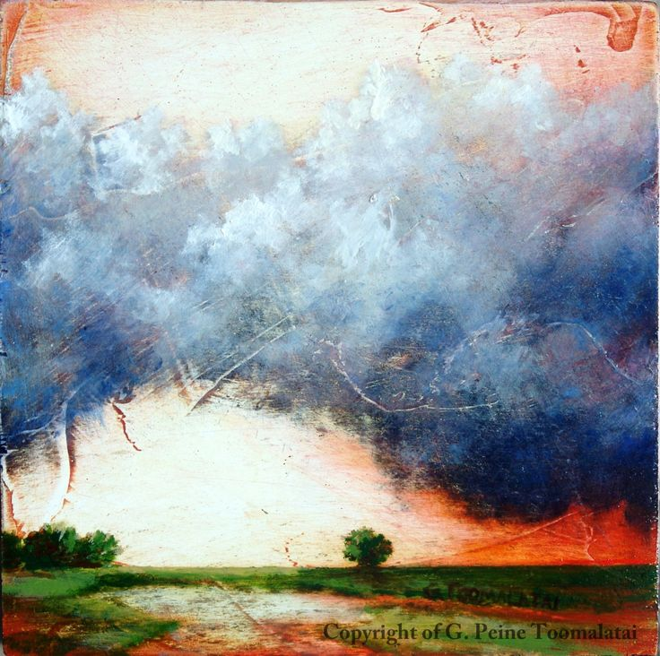 cloud original oil painting on wood panel landscape oil painting cloud wall art cloud painting. Black Bedroom Furniture Sets. Home Design Ideas