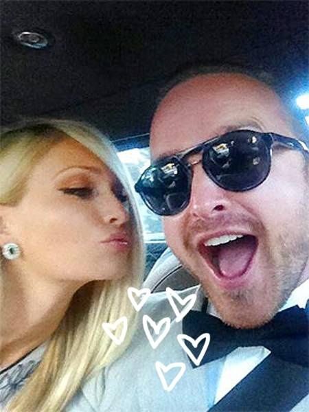 mentioned -                                 Now THIS is how it's done, folks!  A week after the pair shared a joint bachelor/bachelorette party in Las Vegas, Aaron Paul and his bride-to-be, Lauren Parsekian, will be tying the knot this weekend in Mal