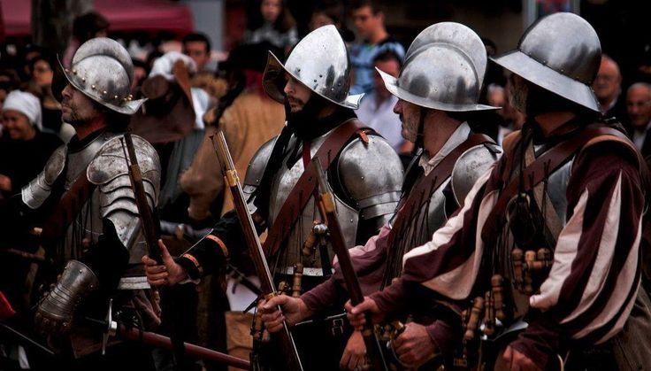 Primera línea del Tercios dispuesta para disparar sobre el enemigo. Asociación Napoleónica Valenciana