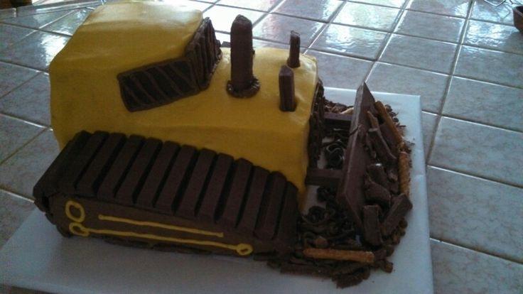 Bulldozer cake.