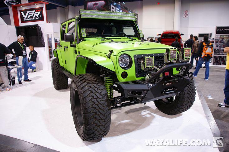 2013 sema vpr green jeep jk wrangler 4 door jeep mods pinterest green jeep jk and jeeps. Black Bedroom Furniture Sets. Home Design Ideas