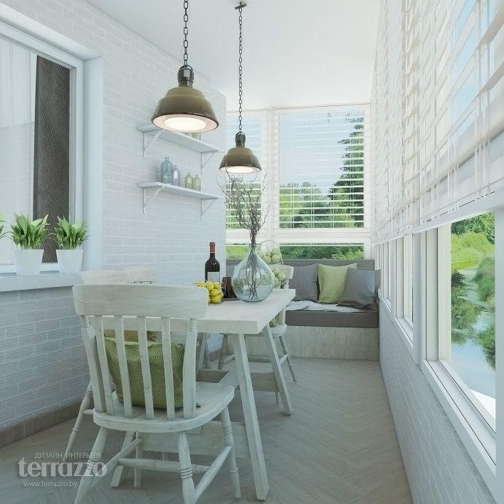 Дизайн Балкона: Дизайн-проект двухкомнатной квартиры в Клевер Парк