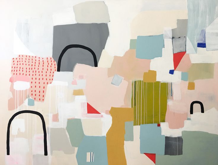 """Layers no.3, 48x60"""",acrylic on 1.5"""" canvasby Sarah Golden"""