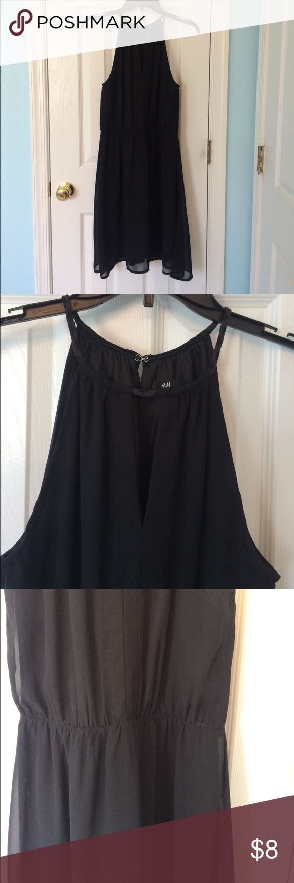 Black H&M dress Black dress, great for wedding or date night. Gathered waist, key hole front and back, fully lined. H&M Dresses Mini