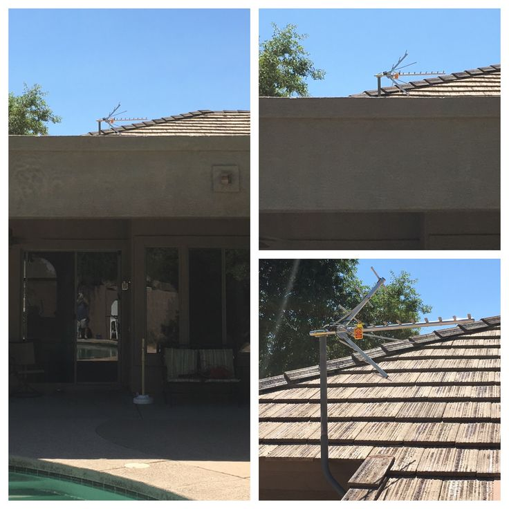Outdoor HDTV antenna installation in East Mesa, AZ.  Antenna TV and stream saves you $100's.  www.freehdtvaz.com #cordcutter