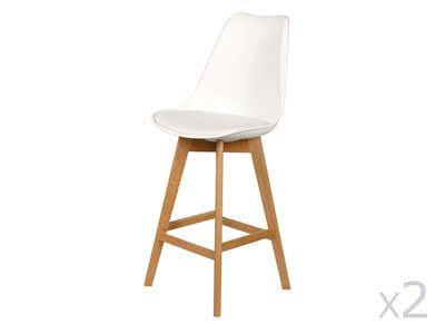 Chaise de bar Scandinavia (lot de 2) blanc