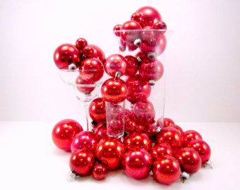 48 rode Vintage glazen ornamenten Holiday Boom decoraties kerstballen