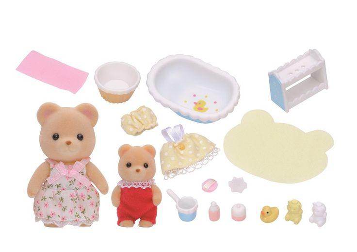 Sylvanian Families Spiel-Set 2228 Badezeit Baden mit Mutter und Kind 2 Figuren + Zubehör - lohnende Bonuspunkte sammeln, auf Rechnung bestellen, DHL Blitzlieferung!