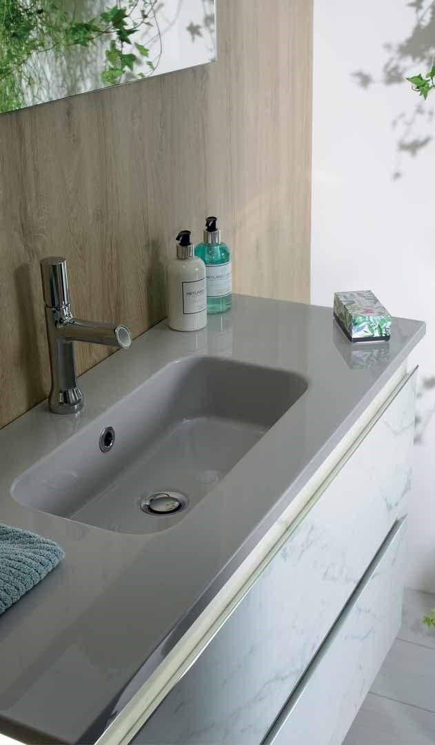 Meuble De Salle De Bain Effet Marbre Blanc Meuble Salle De Bain Salle De Bain Armoire De Toilette