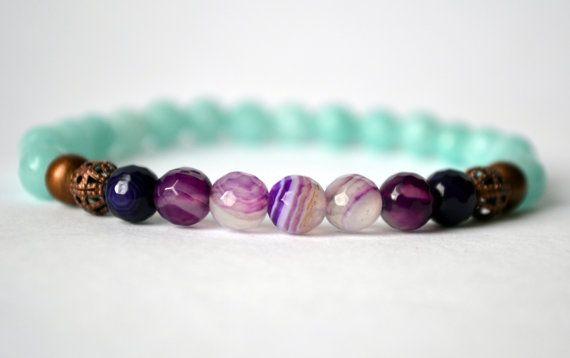 Healing bracelet Agate bracelet Jade bracelet healing crystal to bring elevated…