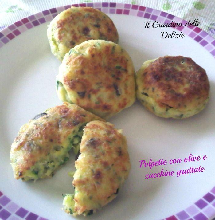 Polpette con olive e zucchine