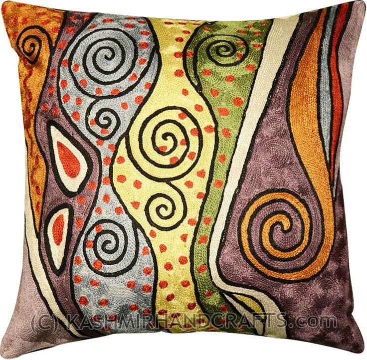 Klimt Rainbow Decorative Accent Pillow Cover
