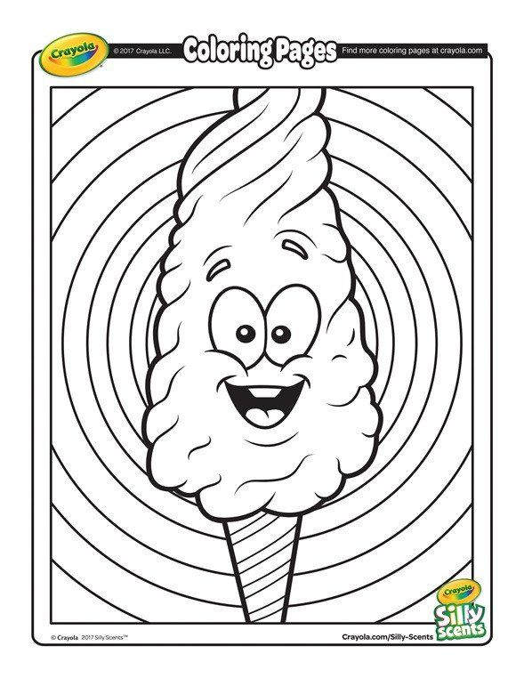 Crayola Coloring Page For Adults Silly Scents Cotton Candy Coloring Page Crayola Coloring Pages Candy Coloring Pages Witch Coloring Pages