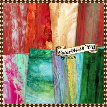 Color Wash Backgrounds~CU