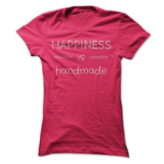 Awesome Crochet Lovers Tee Shirts Gift for you or your family member and your friend:  Happiness is Handmade Tee Shirts T-Shirts