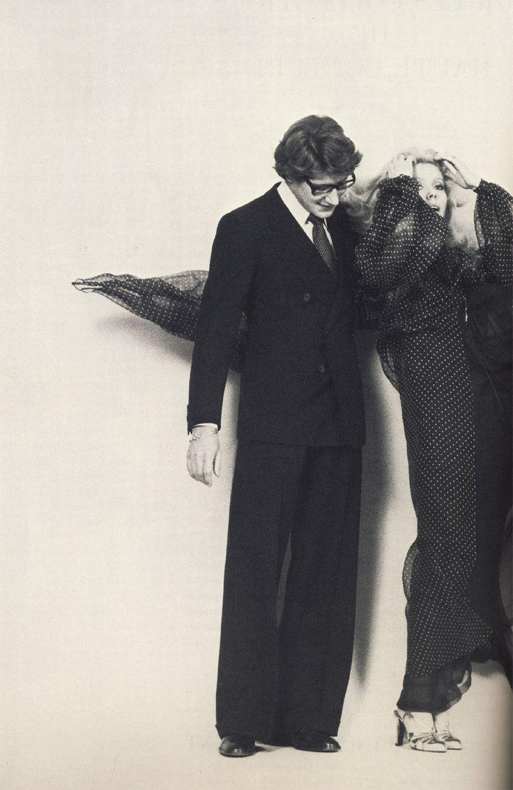Yves Saint Laurent and Catherine Deneuve in Vogue Paris