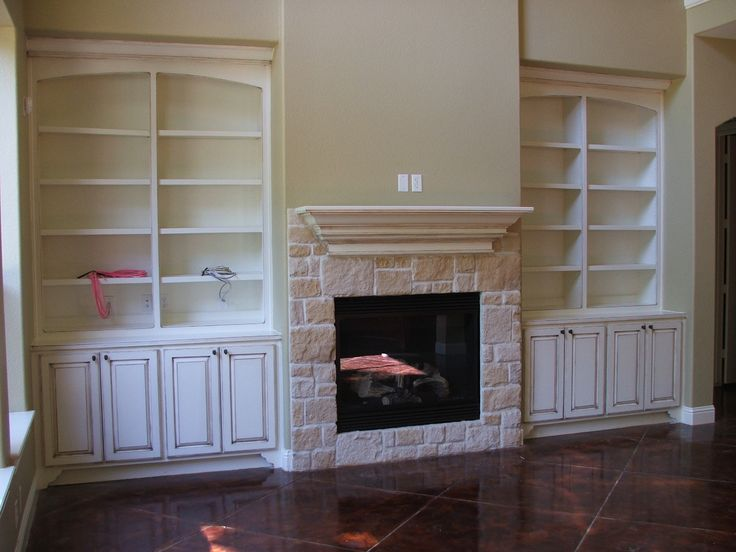 Best Bookshelf Fireplace Remodel Images On Pinterest - Fireplace with bookshelves