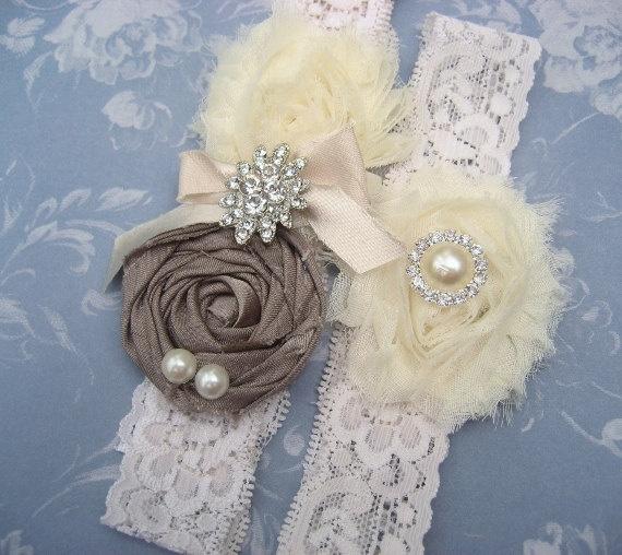 Vintage Bridal Garter Wedding Set Toss By Nanarosedesigns