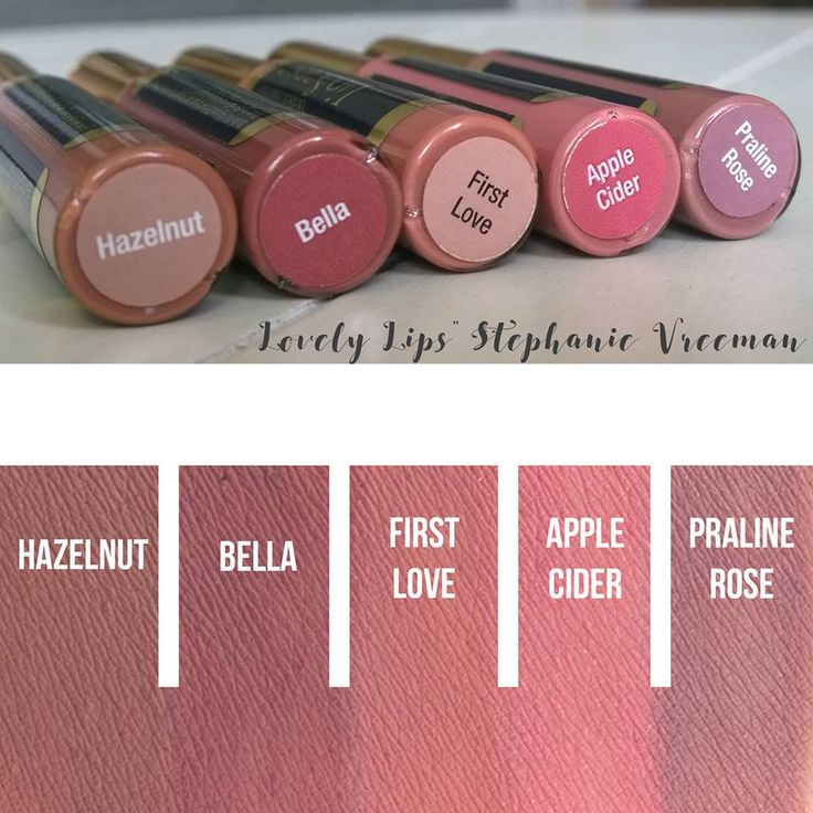 ((IN STOCK at Lovely Lips: Stephanie Vreeman))Hazelnut LipSense, Bella LipSense, First Love LipSense, Apple Cider LipSense, Praline Rose LipSense IN STOCK (Lovely Lips: Stephanie Vreeman)